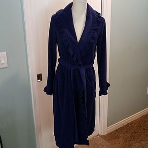*Navy Blue, 3/4 Length, Long Sleeve Robe, Sz Small